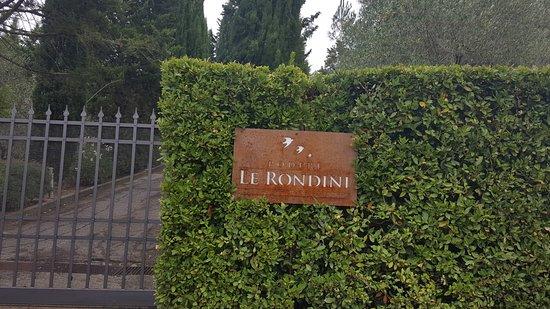 Montespertoli, Italien: Entrada de la finca