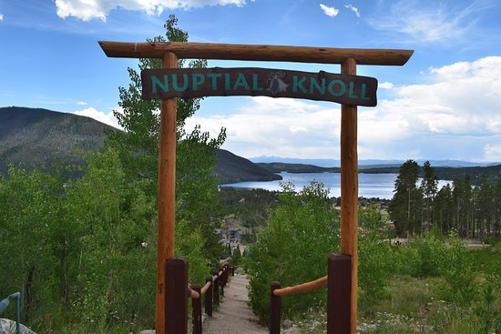 Grand Lake, CO: path to the wedding ceremony area