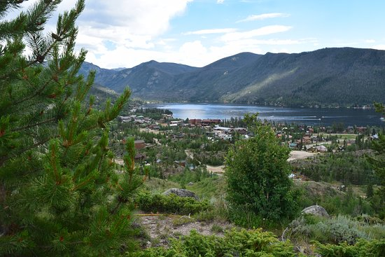Grand Lake, CO: vista from the lodge