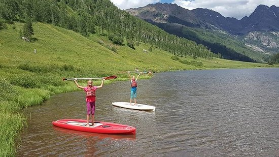 Piney River Ranch: Perfect spot to try paddle boarding for the first time!
