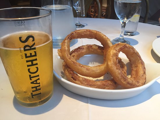 Appleby-in-Westmorland, UK: Largest onion rings ever!