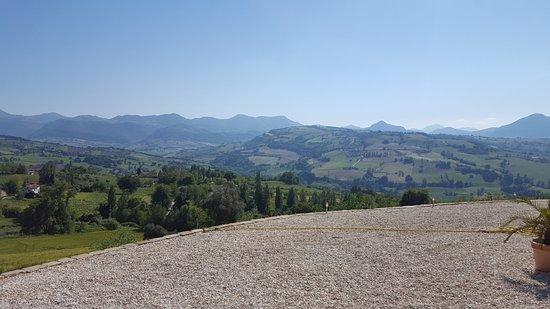 Cupramontana, Italia: het uitzicht!