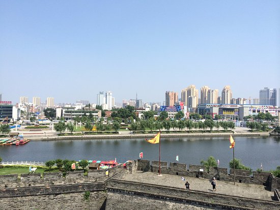 uitzicht op de stad Jingzhou