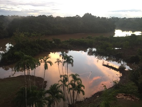 In the middle of Amazon river