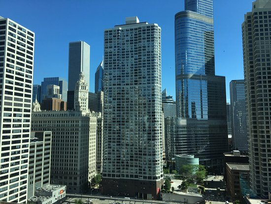 Homewood Suites by Hilton Chicago-Downtown: View from pool on 19th floor