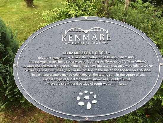 Kenmare, Irlanda: This little plaque is about all the information you'll get about the circle.