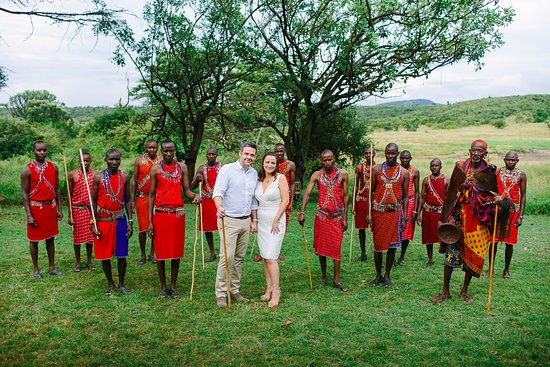 Mara Bushtops: Our Masai wedding in front of the salt lick!