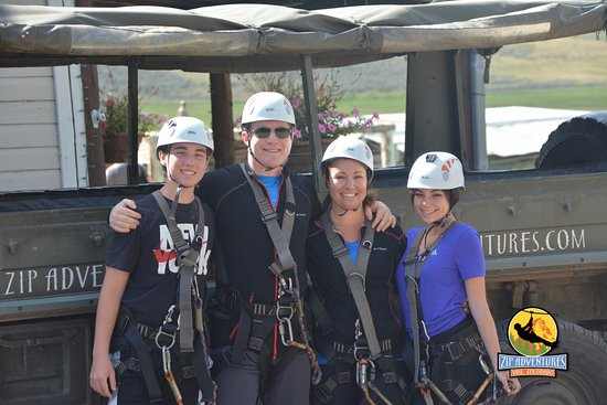 Wolcott, CO: The very happy Lippel family...the day we overcame our fears!