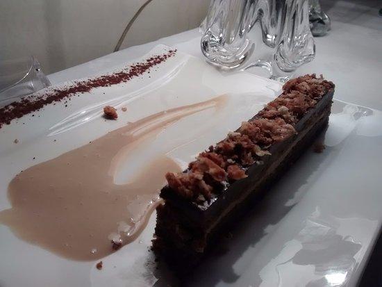 Marquay, Francia: heerlijk chocolade dessert! alles super lekker!