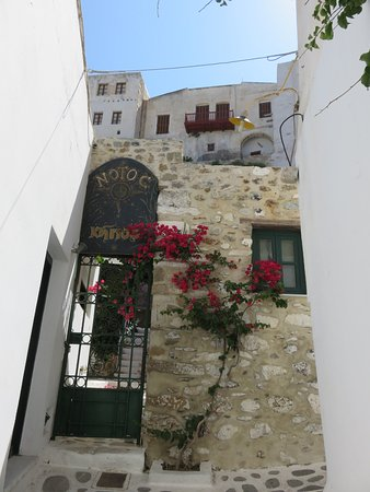 Naxos back alley old town