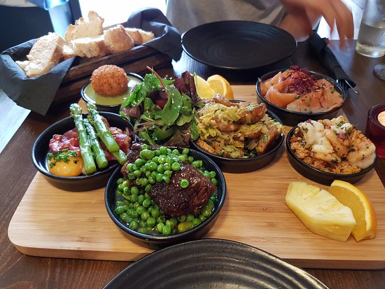 Menai Bridge, UK: The food......