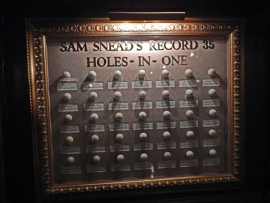 Sam Snead's Tavern: Balls from Sam Snead's 35 Holes-in-One