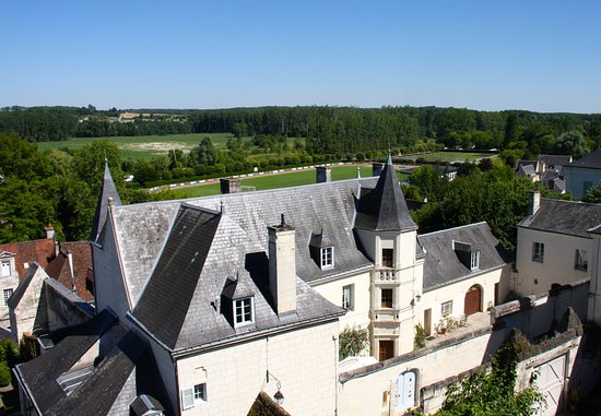 La Maison de l'Argentier du Roy: View of hotel from the chateau