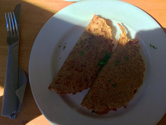 Denstone, UK: Bacon and Cheese Staffordshire Oatcakes