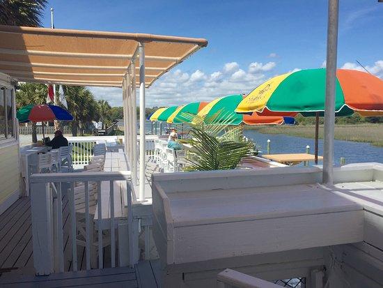 Sharky's: Enjoy our spacious back deck!