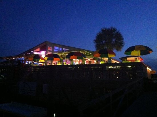 Sharky's: Night time view