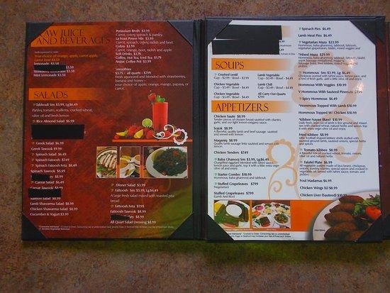La Feast Royal Oak MI .. A very complete menu
