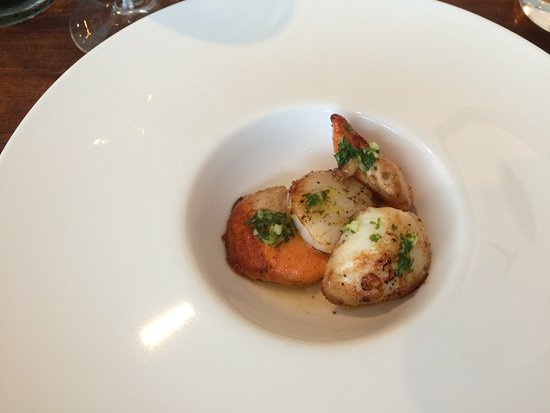 West Byfleet, UK: Scallops