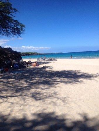 Shaded area at Hapuna Beach, HI