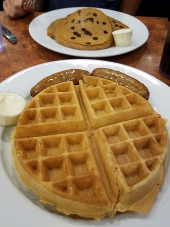 Morristown, NJ: Waffle with a side of pork sausage