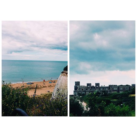 Kingsgate, UK: The beautiful views from the outside seating area