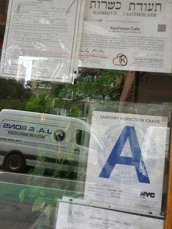 Kashrut Certificate Picture Of Ayurveda Cafe New York