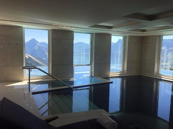 indoor outdoor swimming pool - Picture of Hotel Villa Honegg ...