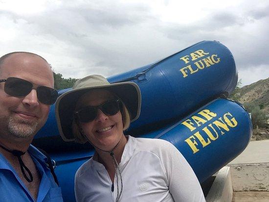 El Prado, Nuovo Messico: Two happy river rafters!
