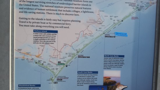 map - Picture of Cape Lookout National Seas, Harkers ... Map Of Harkers Island And Cape Lookout Nc on cape lookout lighthouse, cape lookout at night, cape lookout ferry harkers island, cape lookout beach camping,