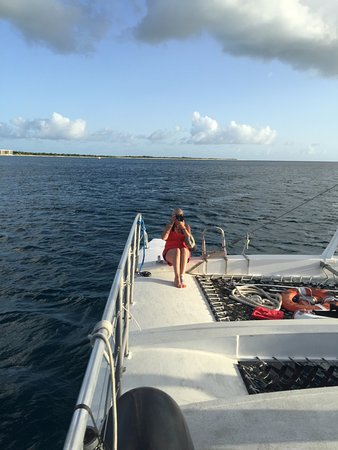 Frederiksted, St. Croix: My lovely wife on deck.