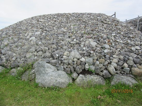 Carrowmore Megalithic Cemetery: Rocks cover the largest tomb on the site.