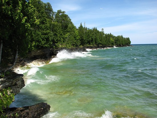 Sturgeon Bay, Висконсин: View from Whitefish Dunes State Park