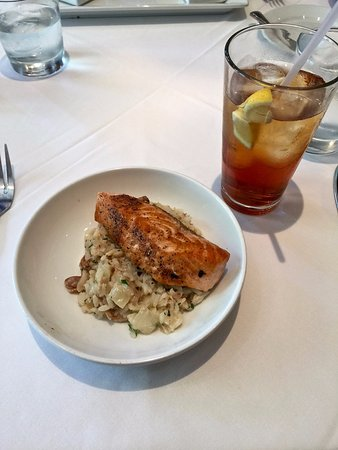 Aiken, SC: Salmon at lunch