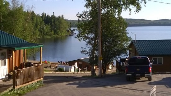 Sioux Lookout, Canada: View from the front porch of our cabin