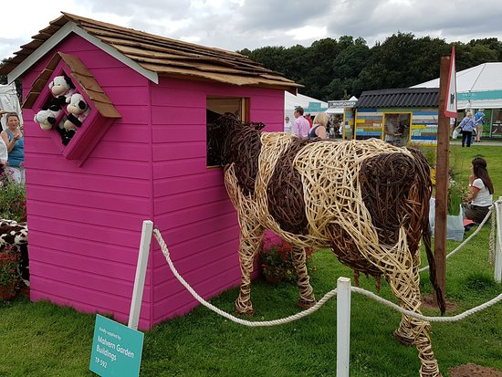"Knutsford, UK: ""Moo House"", Tatton Park Flower Show 2016"