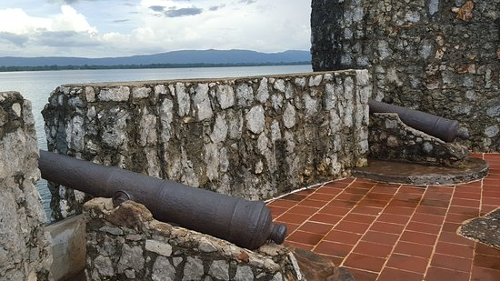 Rio Dulce, Guatemala: Вид со стены
