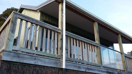 Owaka, Nueva Zelanda: vue depuis le pied du cottage