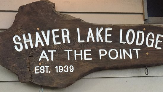 Shaver Lake, CA: Entry Sign