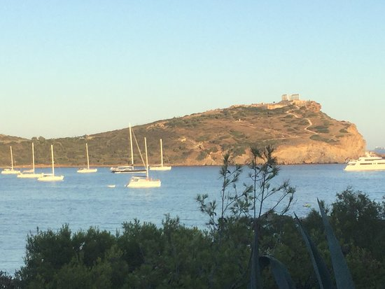 Grecotel Cape Sounio : Looking from resort to the Templeof Poseidon across Cape Sounion.