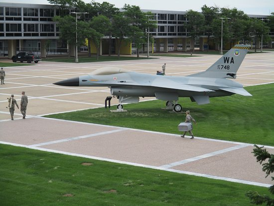 United States Air Force Academy: In the center of the dorms were models (literally) for the cadets to dream of flying one day