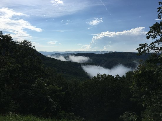 Pipestem, WV: View from park after a rainfall