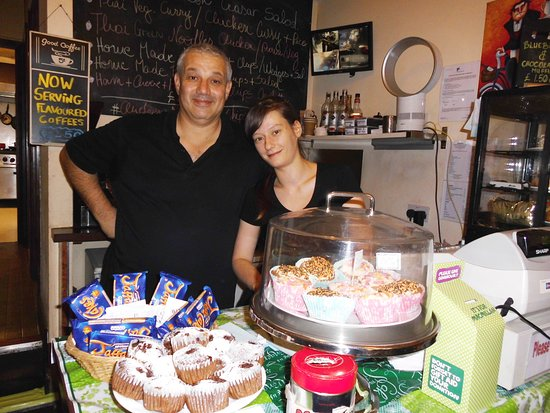 City Cafe: Ken and much missed Csilla