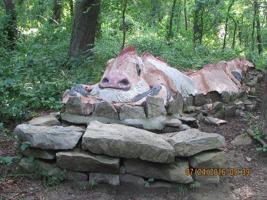 Oakdale, PA: snake carving