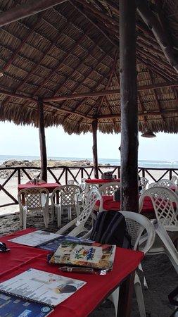Leon, Nikaragua: plážová restaurace