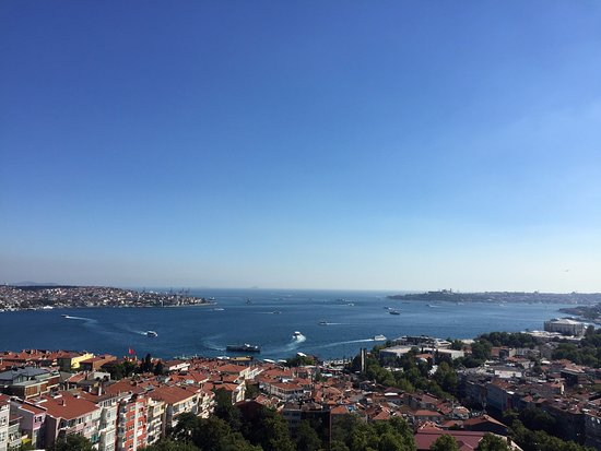 Conrad Istanbul Bosphorus: View from the 14th floor bar terrace