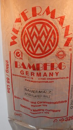 Healy, AK: German malt bag [being used as decorative tent roof water catcher]
