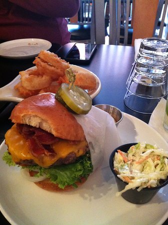 Harbor Springs, MI: Bind Pig Burger & Onion Rings (don't forget the Chipotle Mayo on the side)
