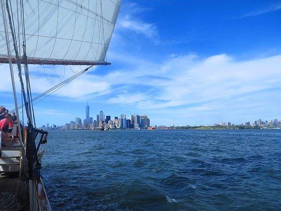 Manhattan By Sail - Clipper City Tall Ship: Manhattan in the distance