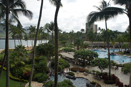 Marriott's Kaua'i Beach Club: Our balcony view.