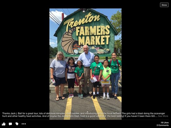 Trenton, Нью-Джерси: Mr. Jack Ball helped my Girl Scout Troop tour the market, do a scavenger hunt, and taste local g